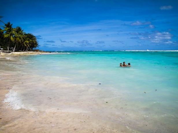 Magnifique plage à Marie-Galante