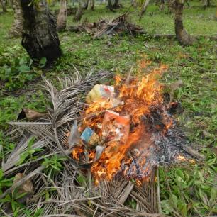 Brûlage des poubelles
