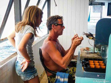 Greffage d'huîtres à Ahé