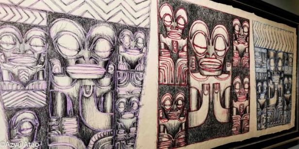 Toru : Dessins au crayon bic de Omaira Tuihani